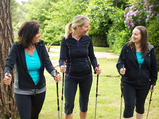 Nordic walking at The Body Retreat