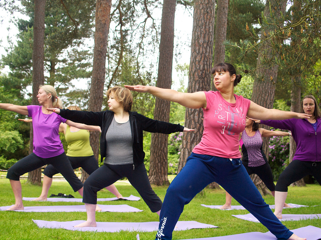 Outdoor yoga at The Body Retreat